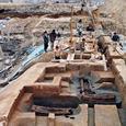 遺跡発掘調査現場